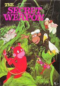366fef87686 Aberne og det Hemmelige Våben (1995) (Dansk Tegnefilm)